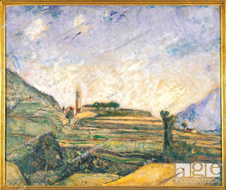 Stock Photo: Arturo Tosi (1871-1956), Poggio di Songavazzo.  Private Collection.