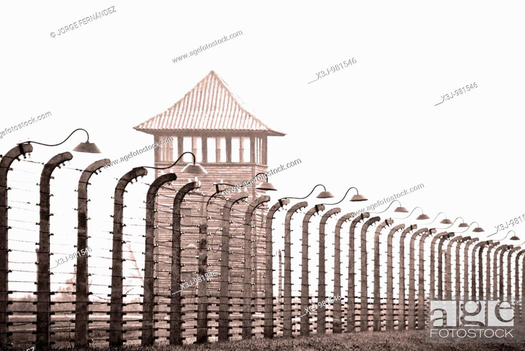 Stock Photo: Views of the Auschwitz concentration camp, Poland, Europe.