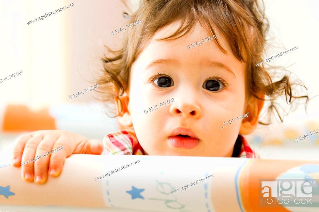 Stock Photo: Baby boy portrait.