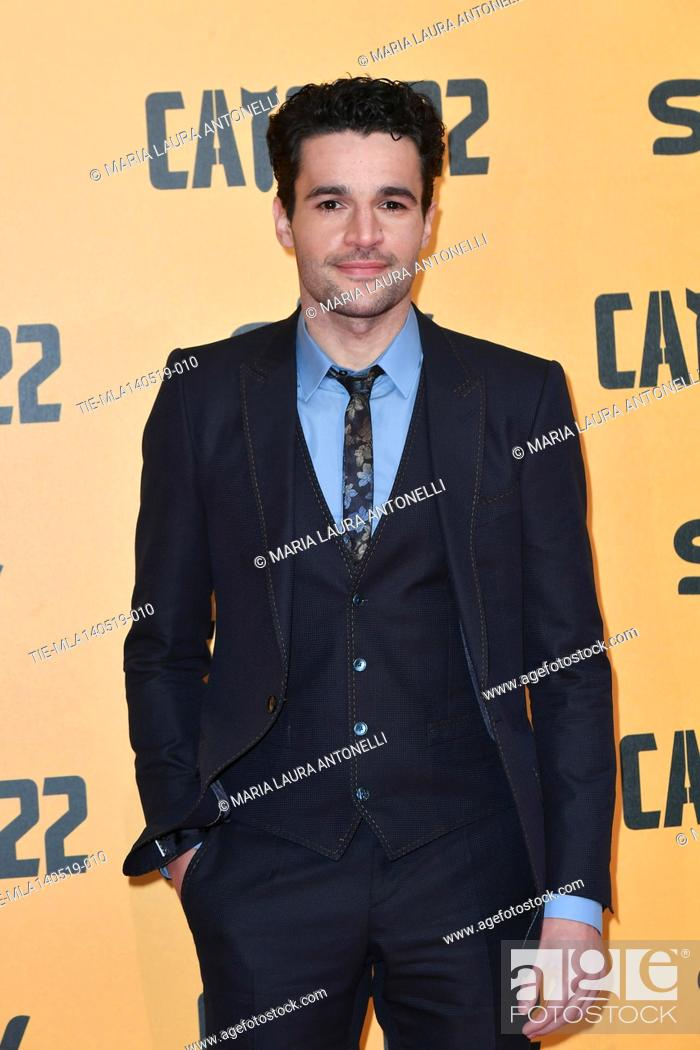 Stock Photo: Christopher Abbott during the Red carpet for the Premiere of film tv Catch-22, Rome, ITALY-13-05-2019.