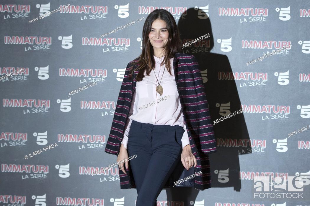 Stock Photo: Italian actress Ilaria Spada attends the photocall of Mediaset's Immaturi fiction. Milan, January 11th 2018.