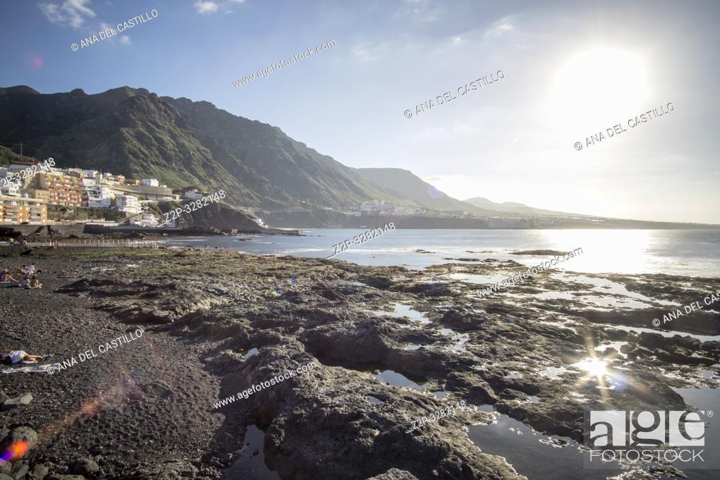 Stock Photo: Punta Hidalgo La Laguna Tenerife Canary islands Spain.