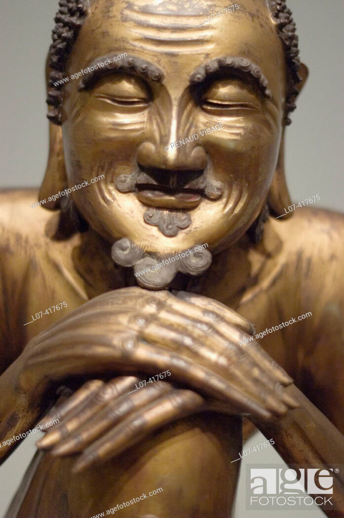 Stock Photo: Statue of wise man. Asian Art Museum. San Francisco. California. United States.