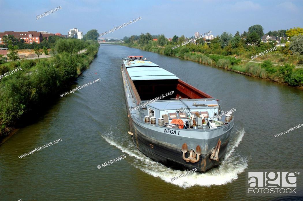 Stock Photo: midland canal, Germany, Lower Saxony, Hanover.