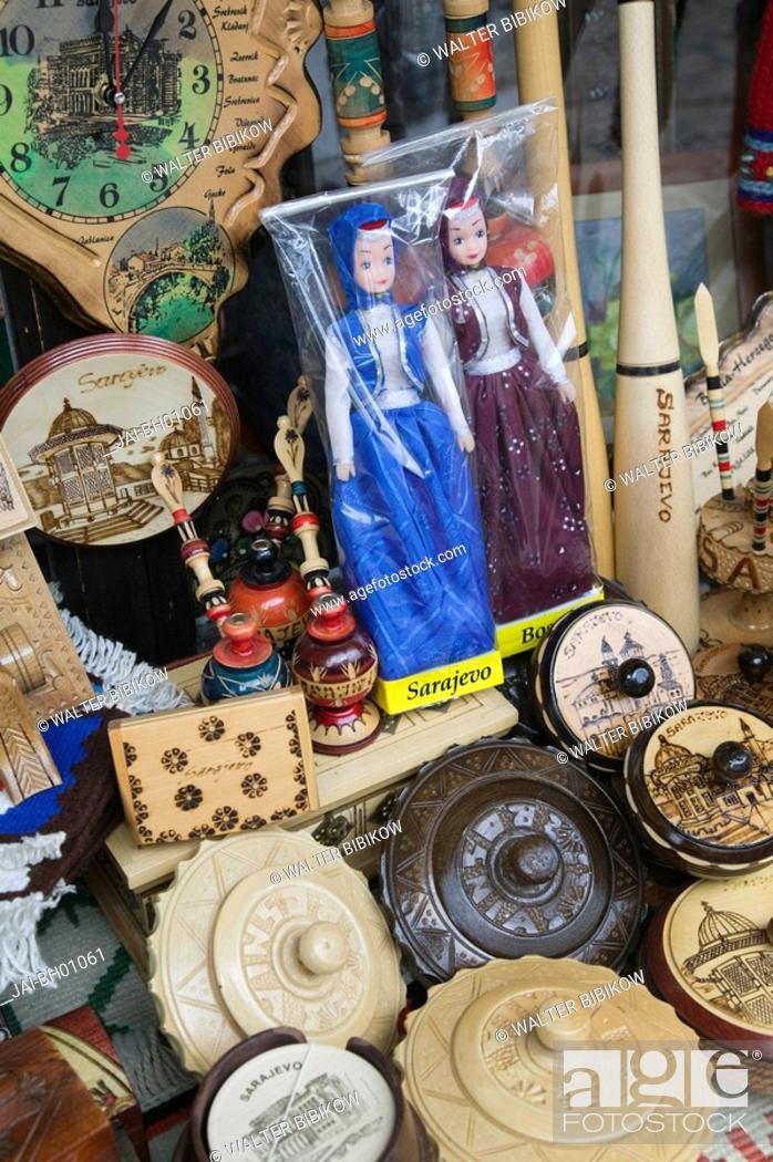 Stock Photo: Bosnia and Herzegovina, Sarajevo, Bascarsija, Souvenirs.