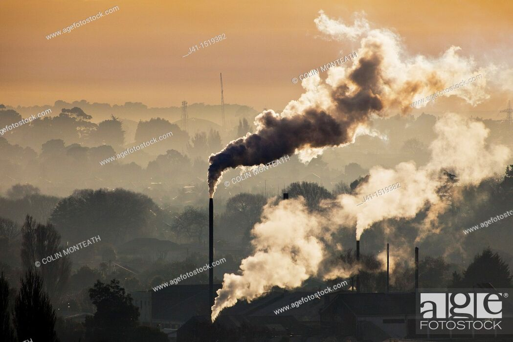Stock Photo: Global warming, pollution.