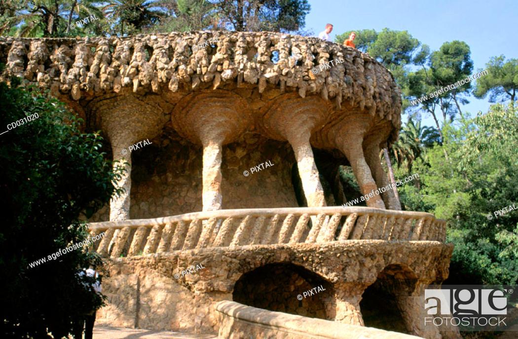 Stock Photo: Güell Park (Gaudí, 1900-1914). Barcelona. Spain.