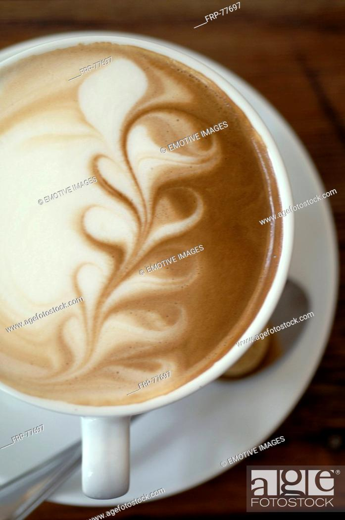 Stock Photo: Cappuccino with decorative froth.