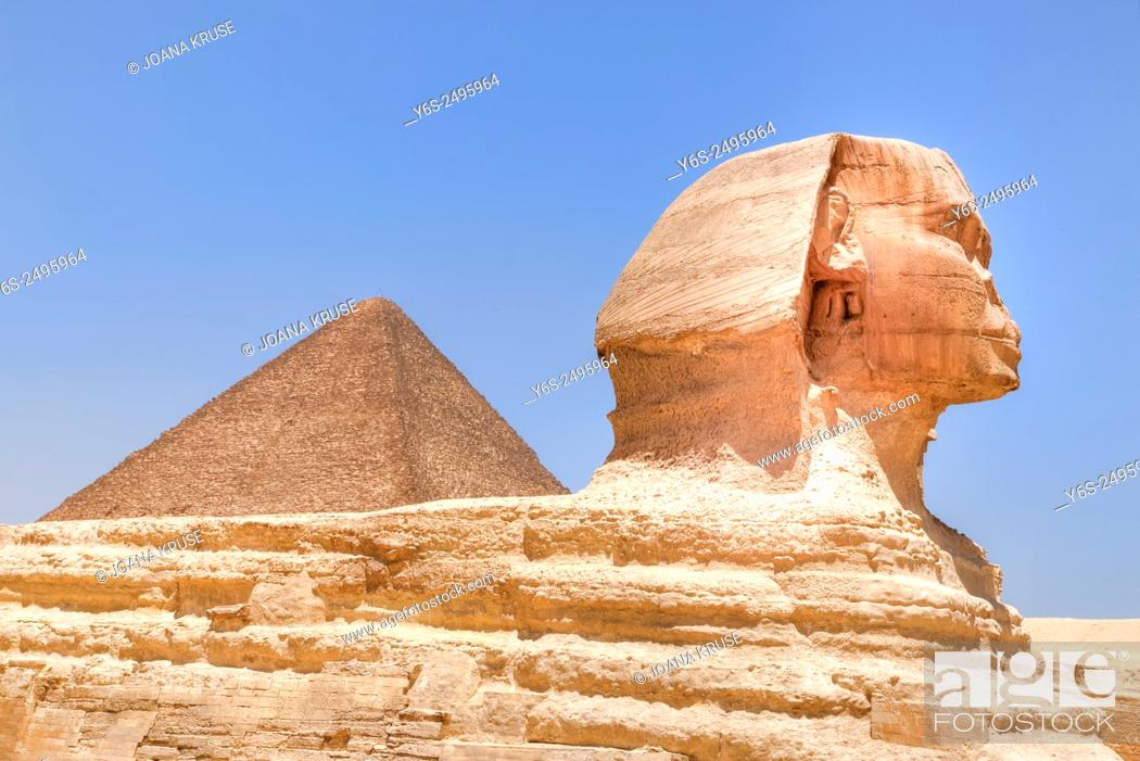 Imagen: Great Sphinx of Giza, Giza, Cairo, Egypt, Africa.