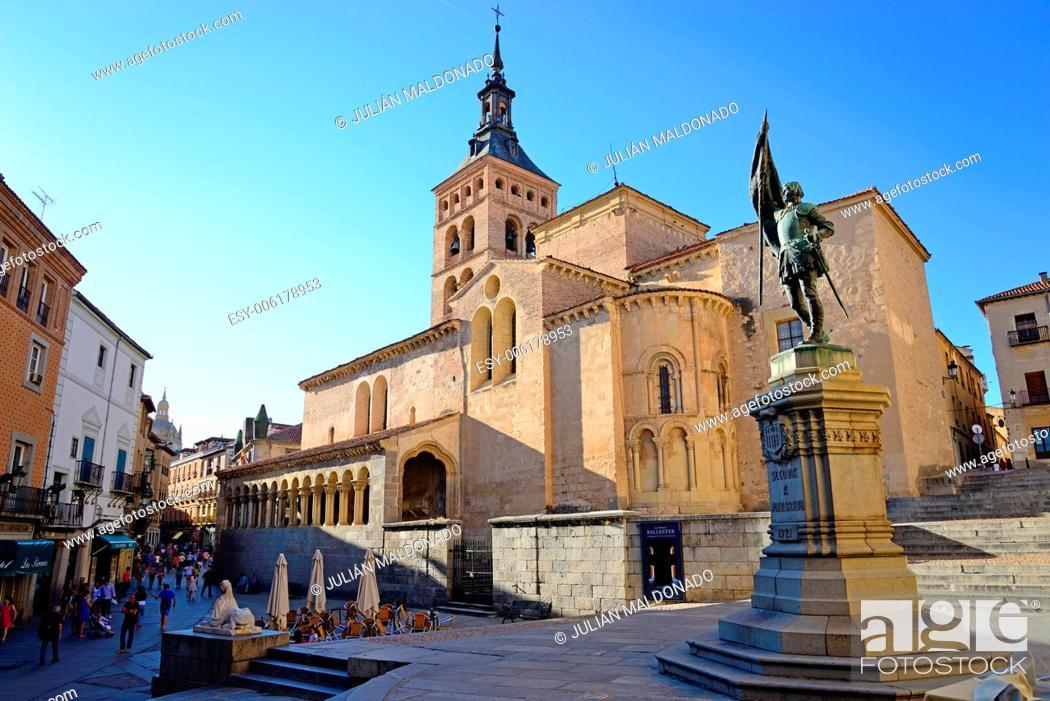 Photo de stock: Church of San Martin, Segovia, Castilla Leon, Spain.