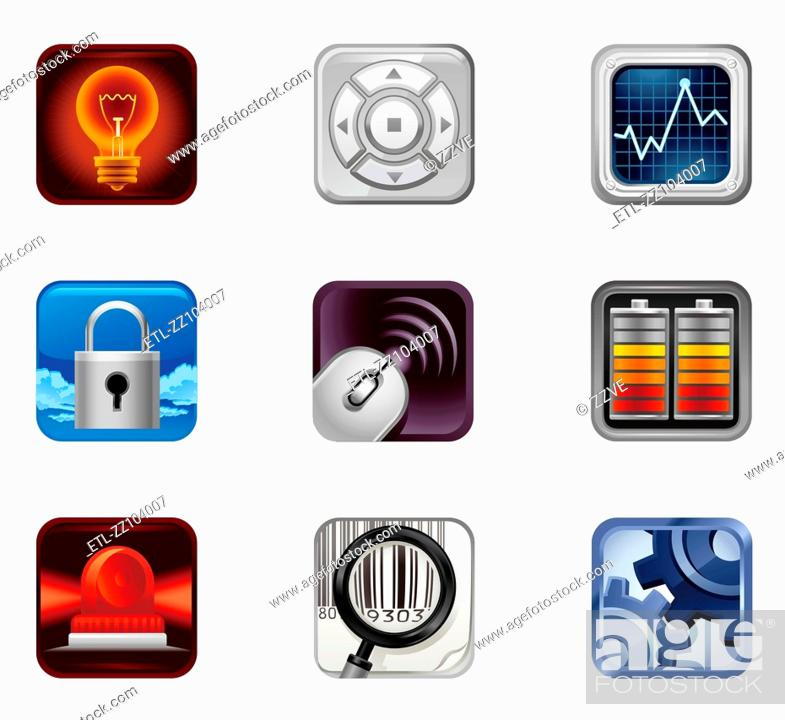 Stock Photo: Electricity Icon Set.