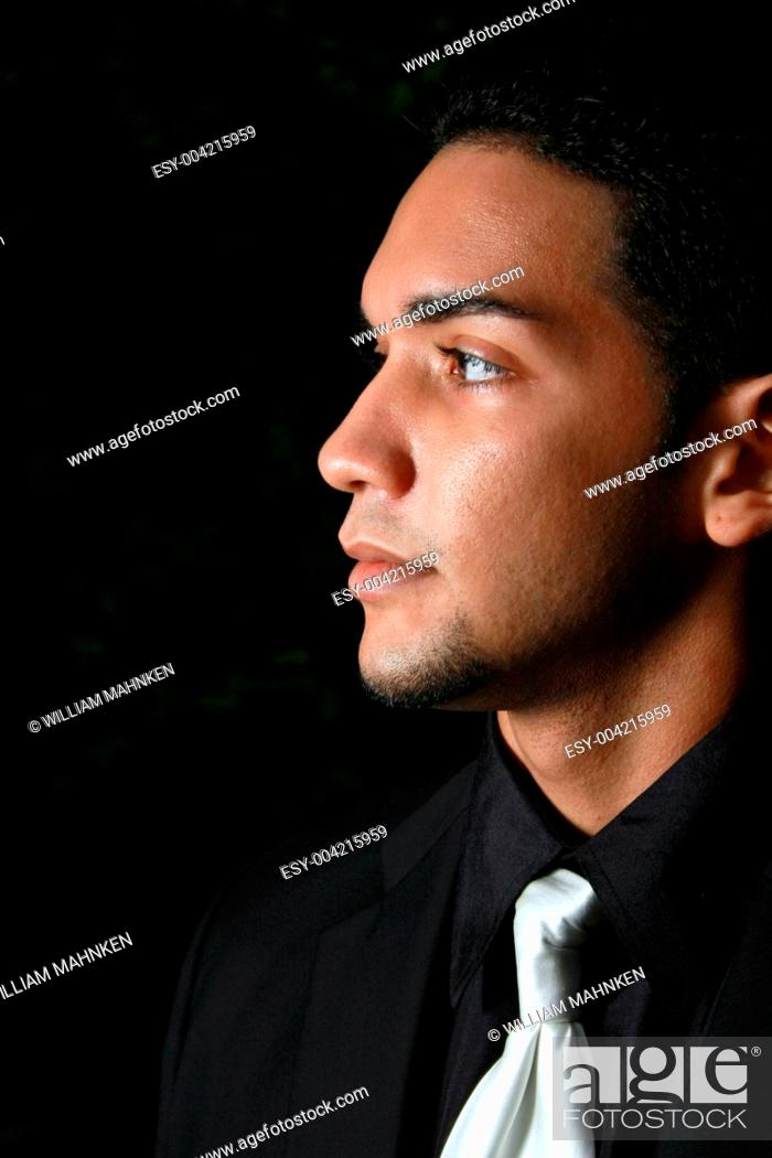 Stock Photo: A young hispanic male.