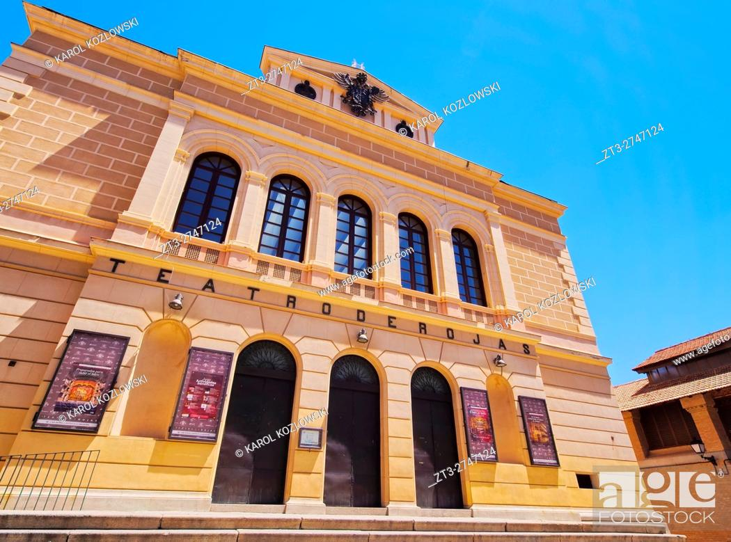 Stock Photo: Spain, Castile La Mancha, Toledo, Plaza Mayor, View of the Teatro de Rojas. .