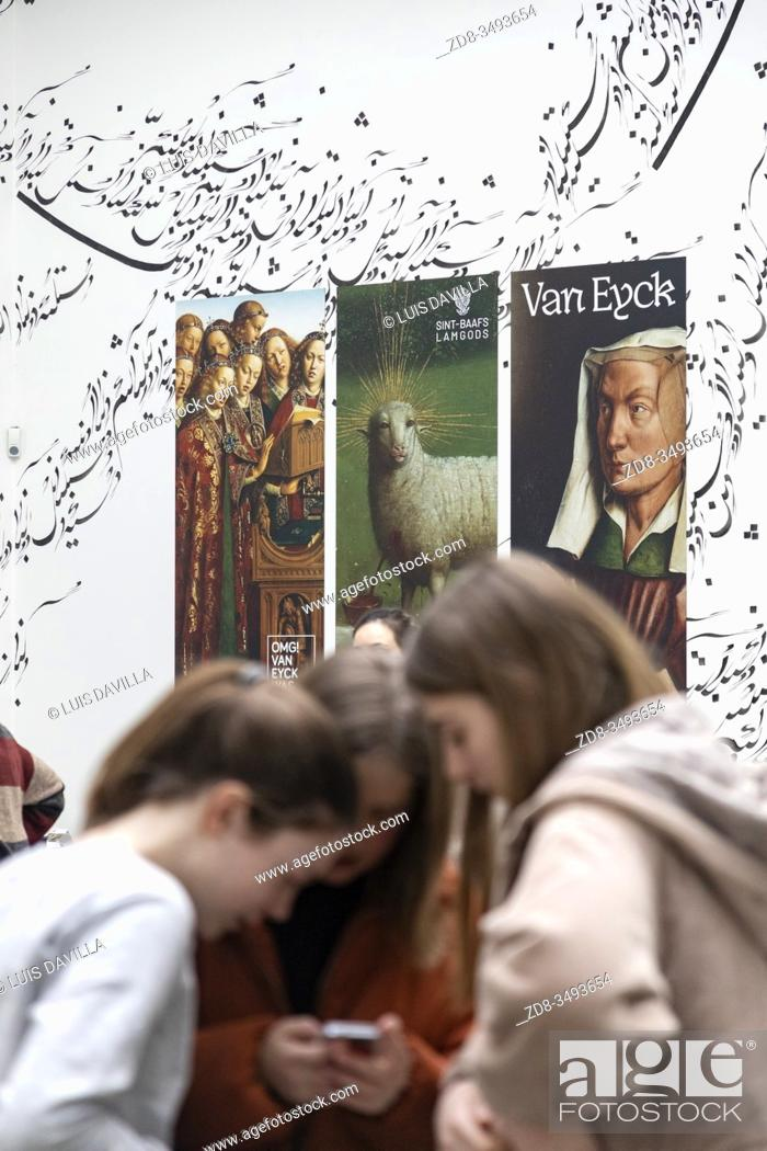 Imagen: Poster of the exposition of Van Eyck. Museum of Fine Arts. Ghent. Belgium.