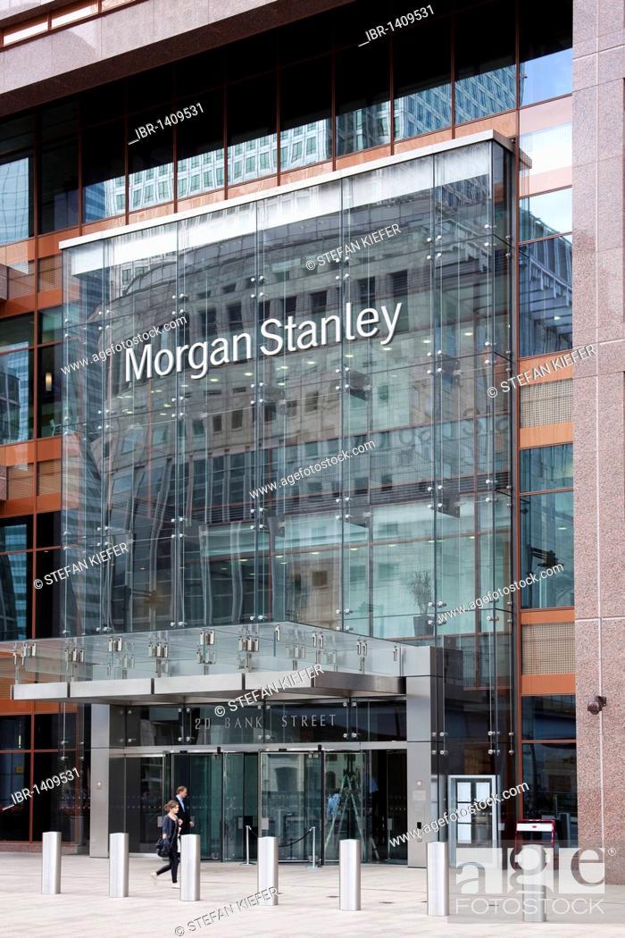 Morgan Stanley Bank in Canary Wharf, London, England, United Kingdom