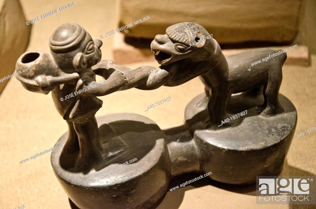 Stock Photo: Ceramic vessel  Chimú culture 1100 AD- 1470 AD  Perú.