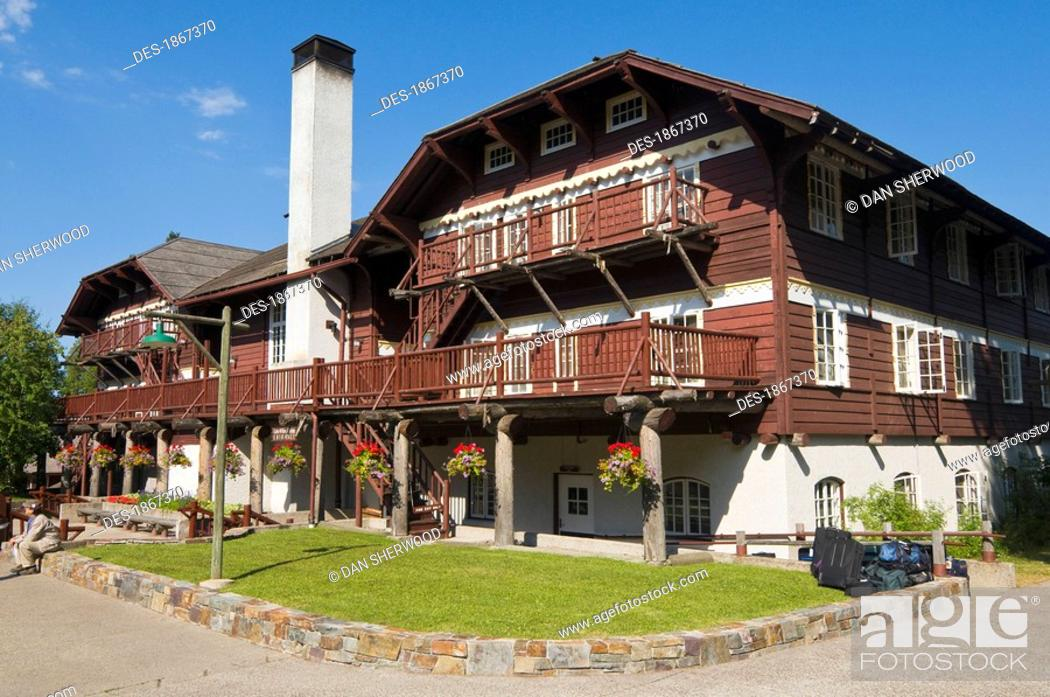 Lake Mcdonald Lodge Glacier National Park Montana Usa Stock Photo Picture And Rights Managed Image Pic Des 1867370 Agefotostock