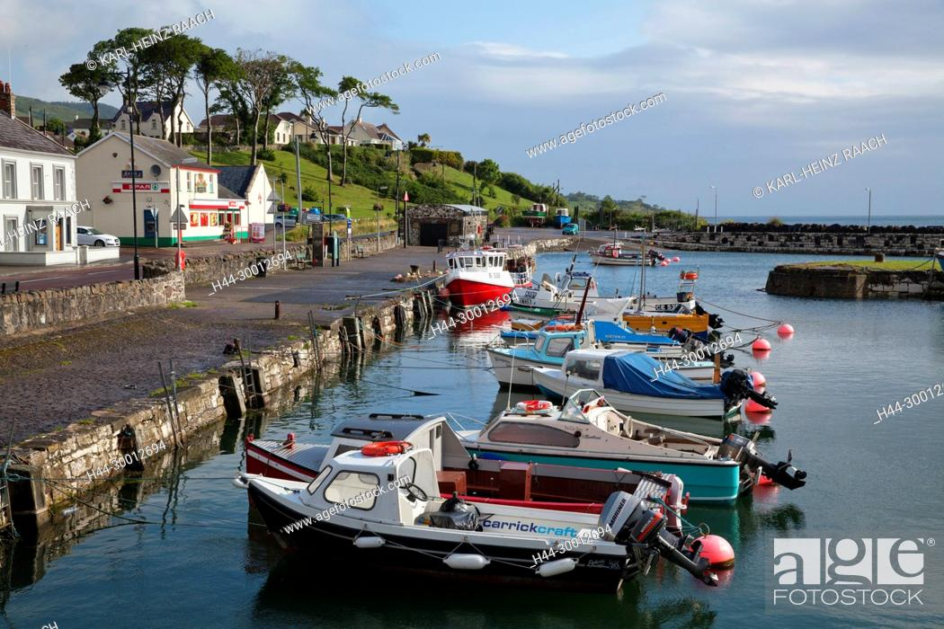 Stock Photo: Nordirland, Glenarm, Antrimküste, County Antrim, Hafen.