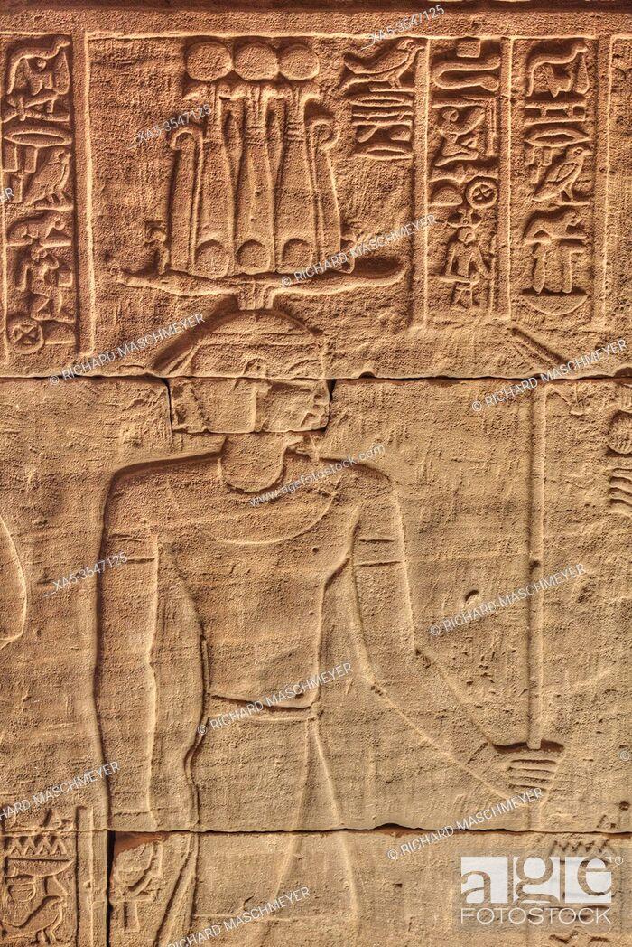 Imagen: Bas Reliefs, Beit al-Wali Temple, Kalabsha, UNESCO World Heritage Site, Near Aswan, Egypt.