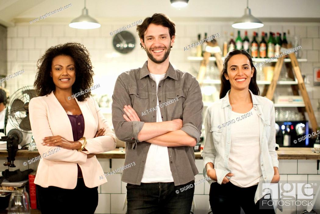 Stock Photo: Restaurant business partners, portrait.