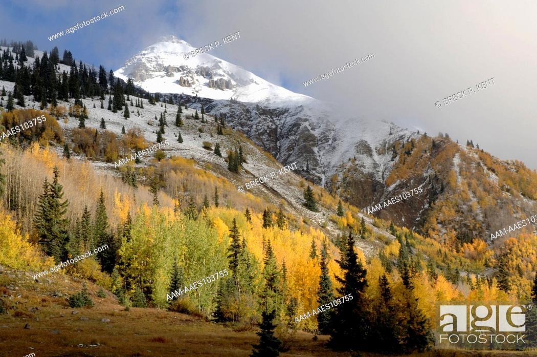 Stock Photo: Autumn, Red Mt. Pass, CO, Colorado.