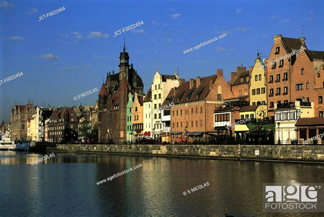 Stock Photo: Poland, Gdansk, the quays.
