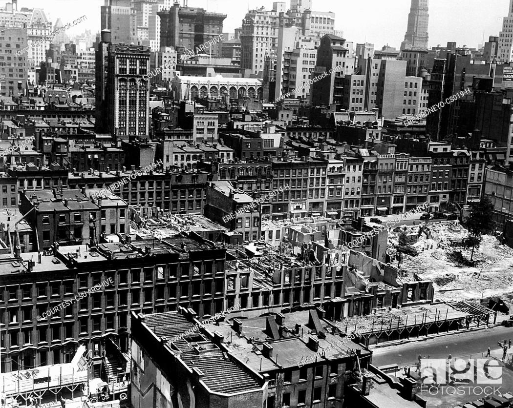 New York City, Buildings Built In The 1800s Are Demolished
