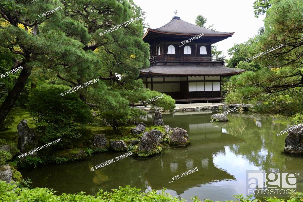 Stock Photo: Ginkaku-ji temple and its gardens, Kyoto, Japan, Asia.