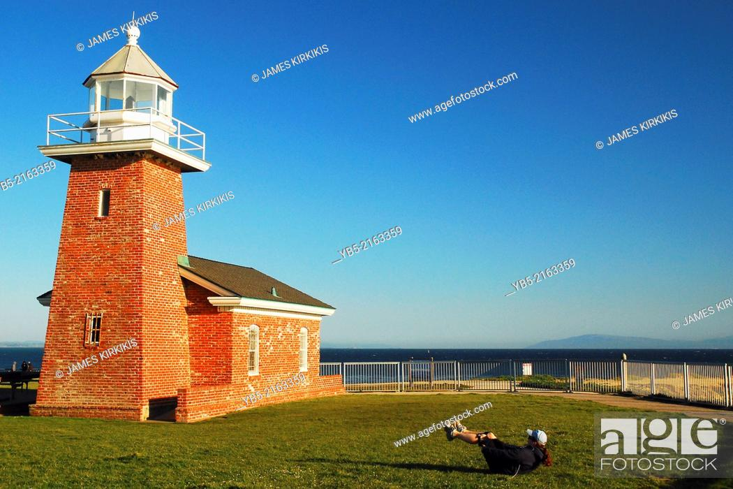 Abbott Memorial Lighthouse, Stock Photo, Picture And Rights