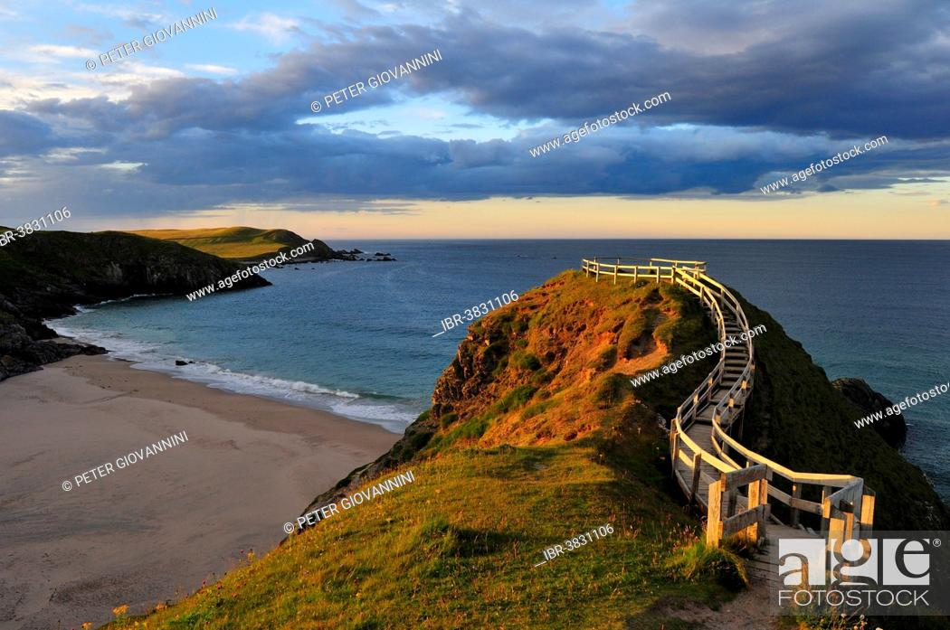 Stock Photo Viewpoint Overlooking The Beach Of Sango Bay Durness Caithness Sutherland