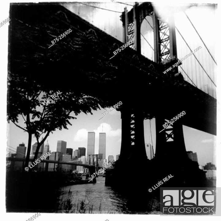 Stock Photo: Brooklyn Bridge, Manhattan. New York City. USA.