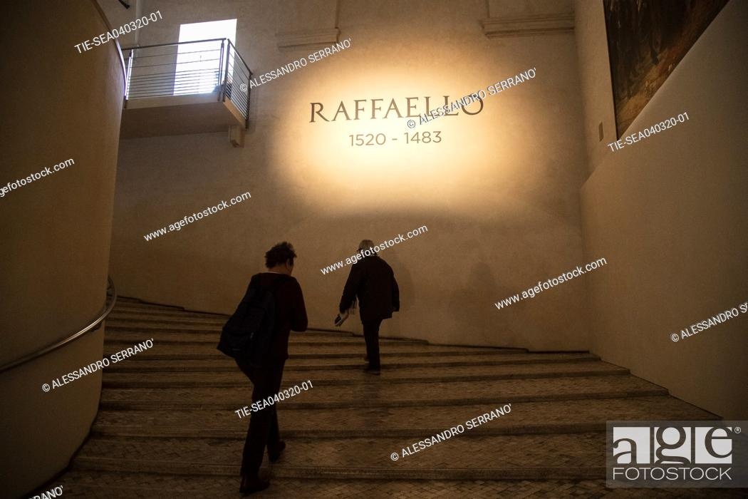 Stock Photo: Opening of the exhibition 'Raffaello 1520 - 1483' at the Scuderie del Quirinale in Rome , ITALY-04-03-2020.