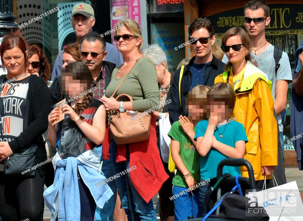 Cillian Murphy, wife Yvonne and their sons Malachy and ...