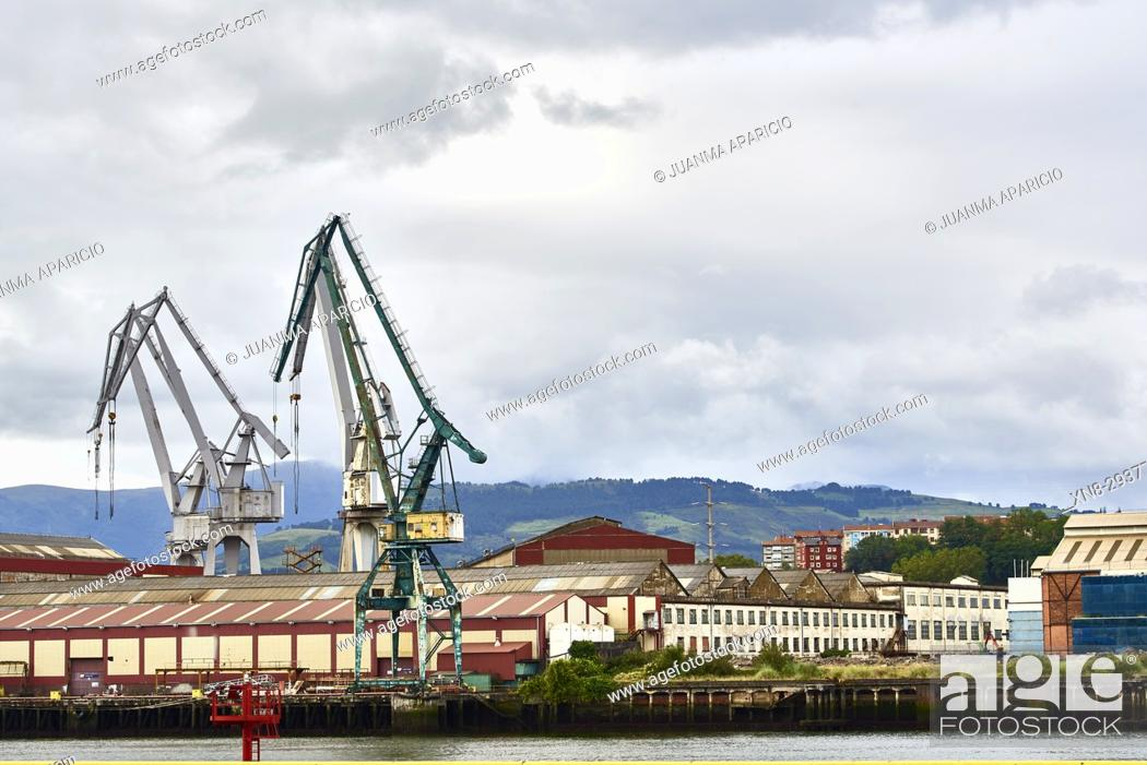 Stock Photo: Industrial Zone, Biscay, Basque Country, Euskadi, Spain, Europe.