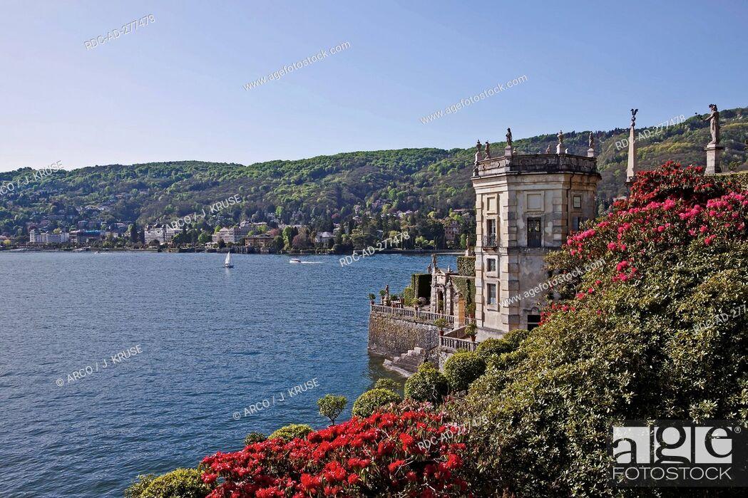 Stock Photo: Palazzo Borromeo, Isle of Isola Bella, Borromean Islands, Lago Maggiore, Piedmont, Italy.