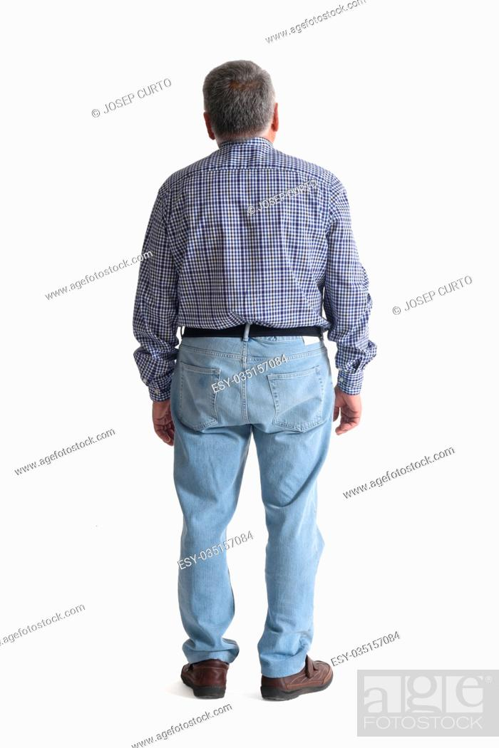 Stock Photo: Portrait of a mature man full body.