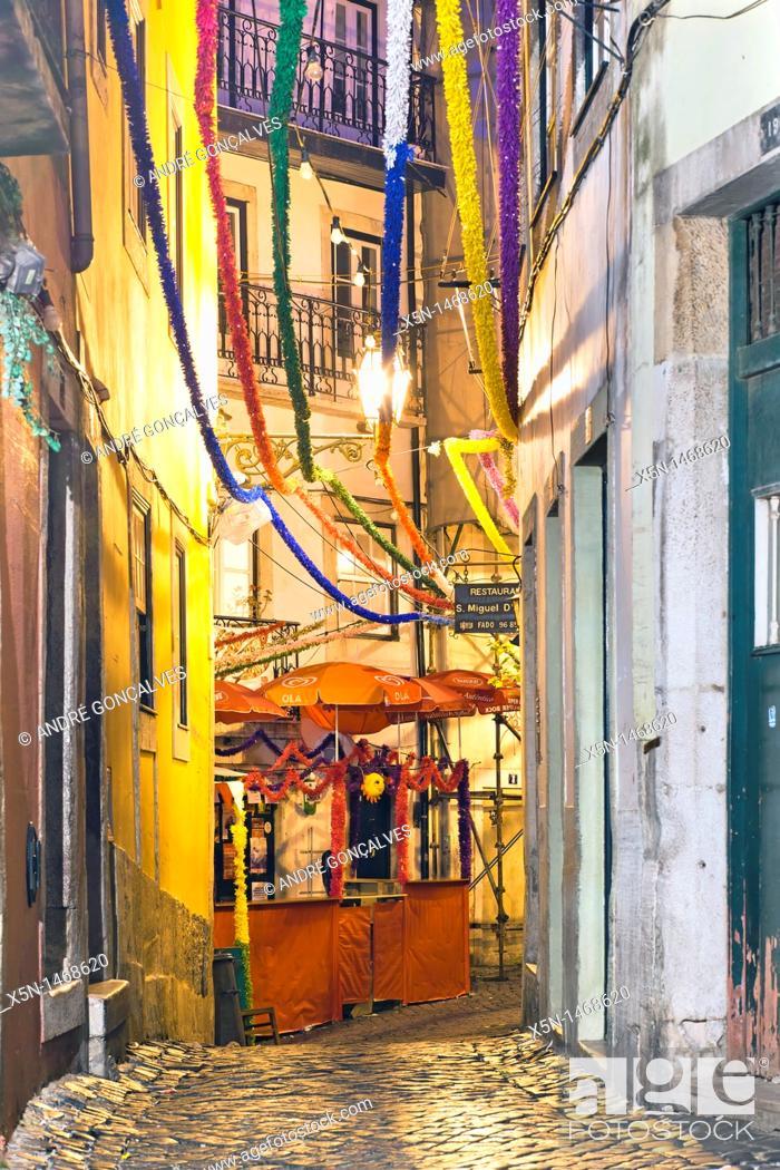 Stock Photo: Alfama, Lisbon, Portugal, Europe.