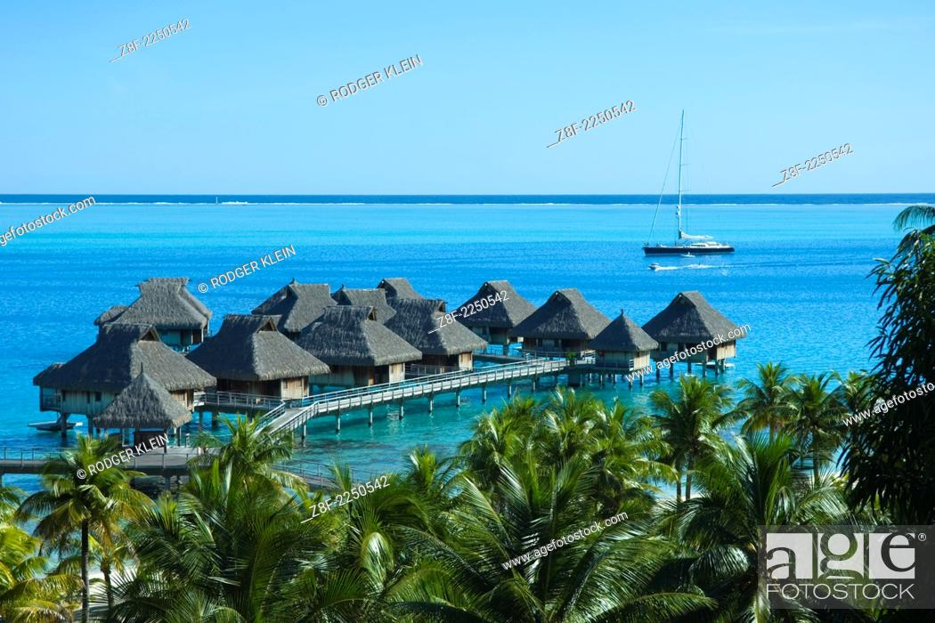 Beautiful Over The Water Hotel Bora Bora Sunsets And