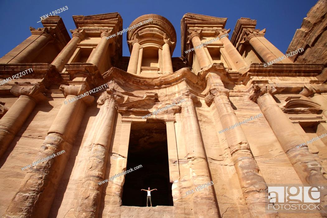 Stock Photo: El Deir or Monastery, Petra, Jordan.