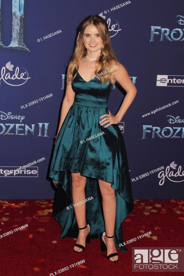 """Stock Photo: Kayla Cromer 11/07/2019 The World Premiere of """"""""Frozen 2"""""""" held at the Dolby Theatre in Los Angeles, CA. Photo by I. Hasegawa / HNW / PictureLux."""