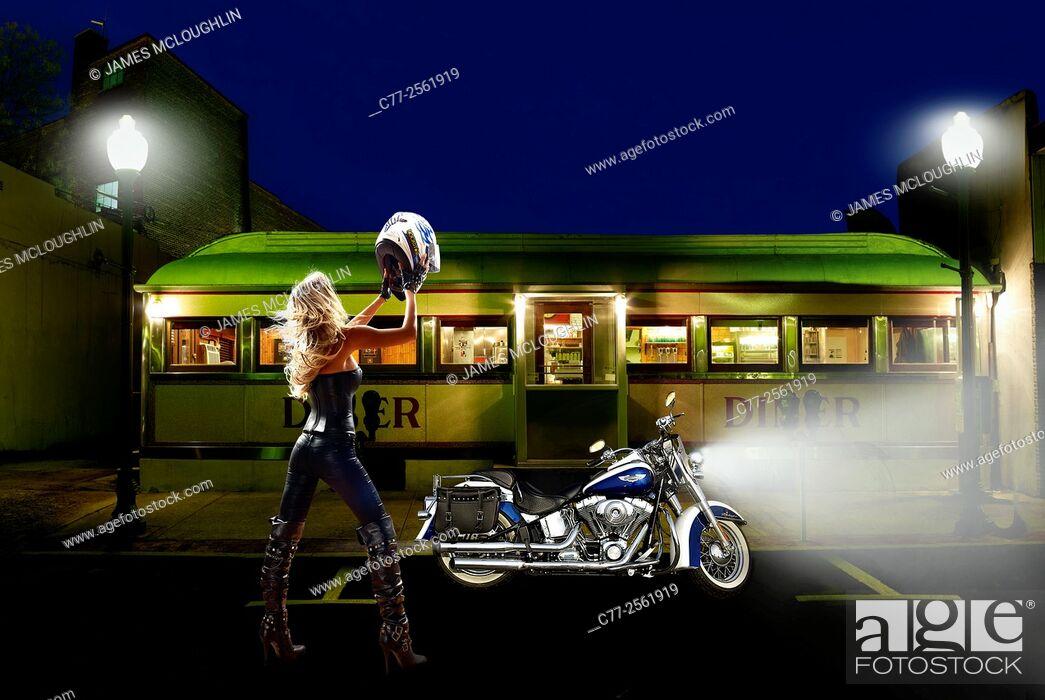 Stock Photo: Motorbike concept.
