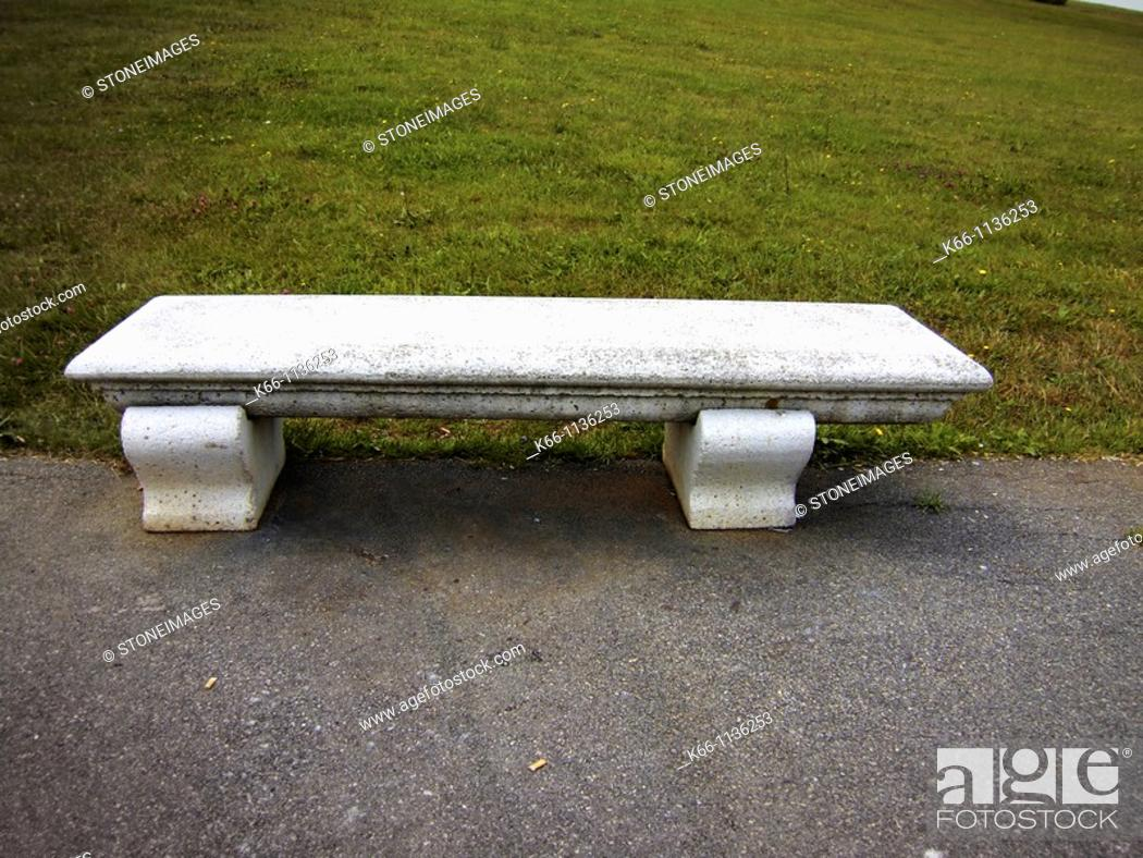 Stock Photo: Bench in a park.
