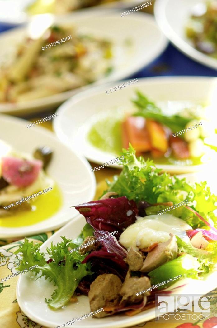 Stock Photo: Italian food.