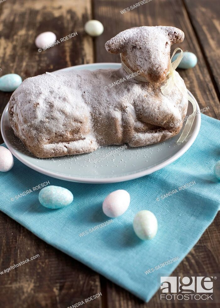 Stock Photo: Easter lamb on plate.