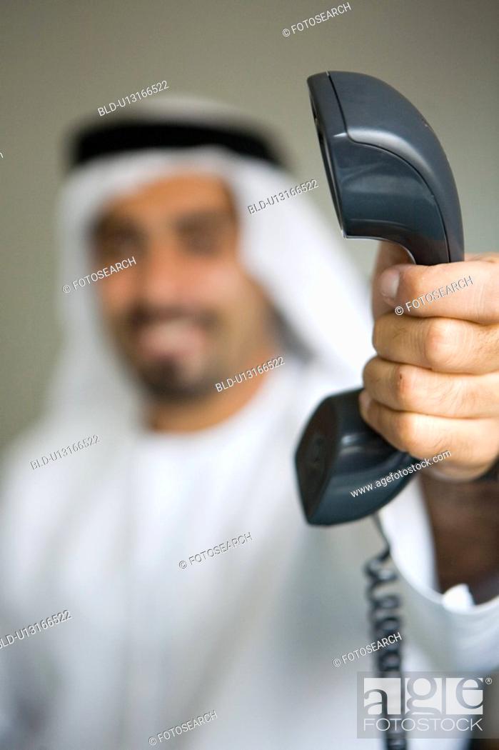 Stock Photo: business, phone, businessmen, businessman, Arabic.