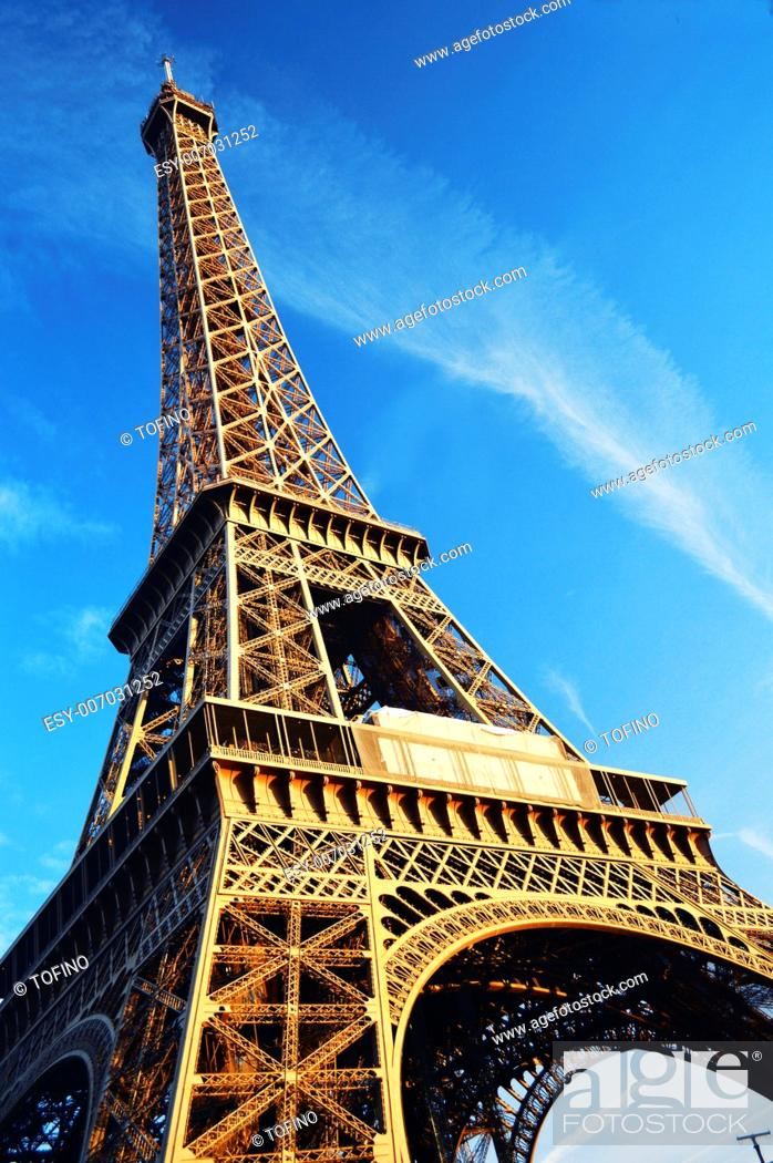 Stock Photo: The Eiffel Tower in Paris, France.