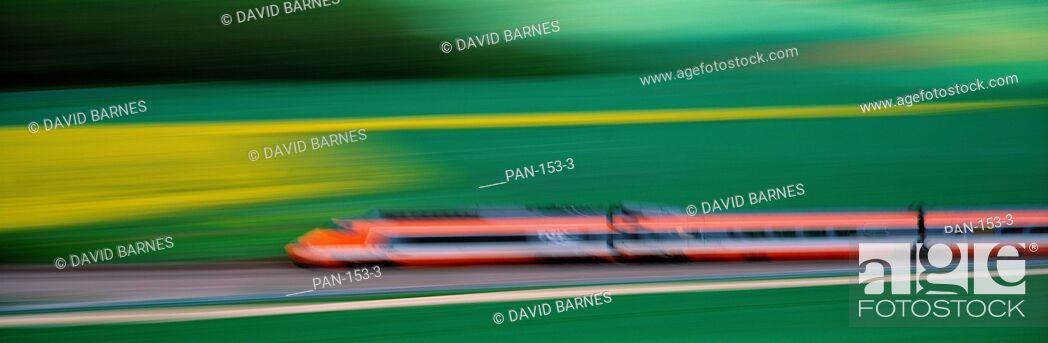 Stock Photo: TGV High-speed train, France.