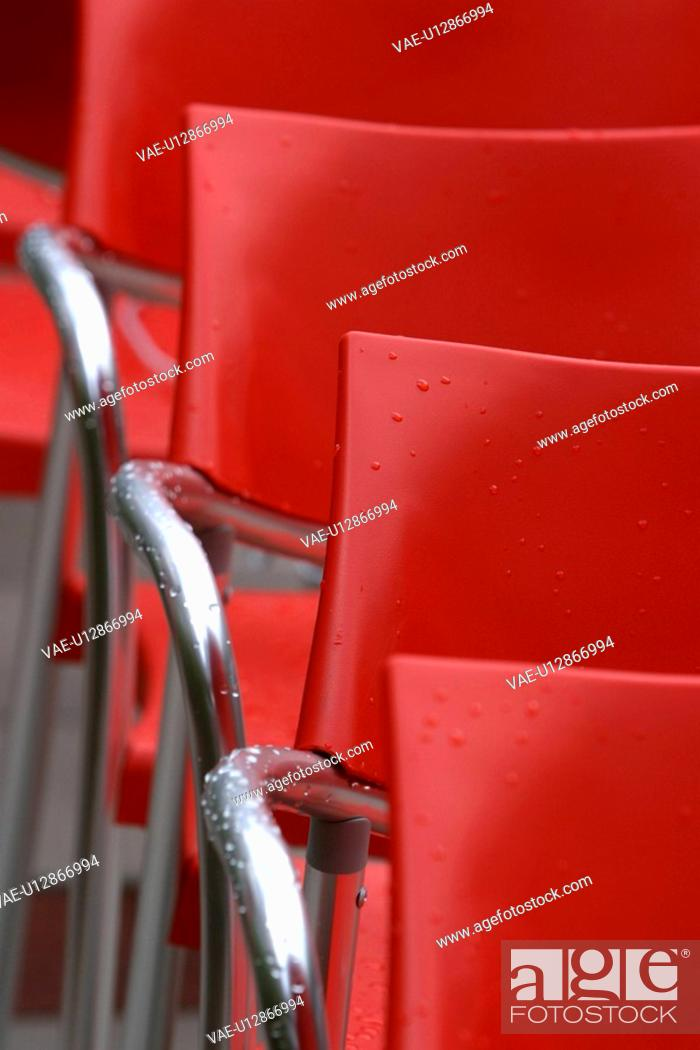 Stock Photo: design, pattern, chairs, arranged, placed, array.