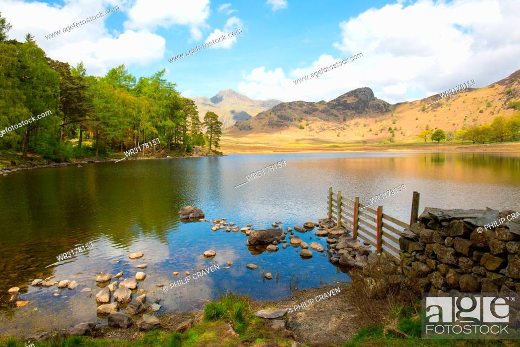 Imagen: Blea Tarn, Little Langdale, The Lake District, UNESCO World Heritage Site, Cumbria, England, United Kingdom, Europe.