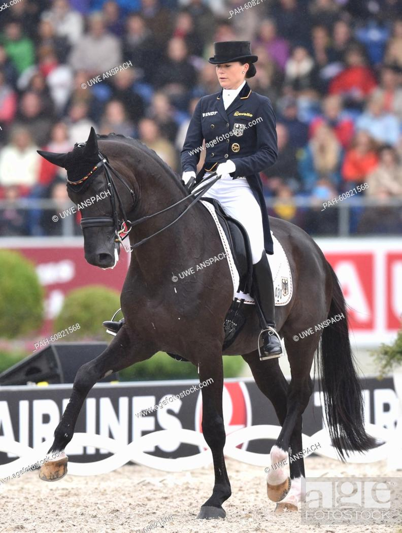Kristina Broring Sprehe Of Germany Rides Her Horse Desperados In The Grand Prix Freestyle Dressage Stock Photo Picture And Rights Managed Image Pic Pah 60821568 Agefotostock